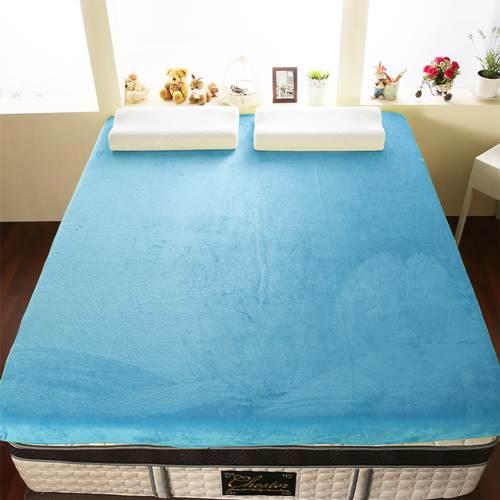 【契斯特】12公分新法蘭絨舒適記憶床墊-加大6尺-水手藍