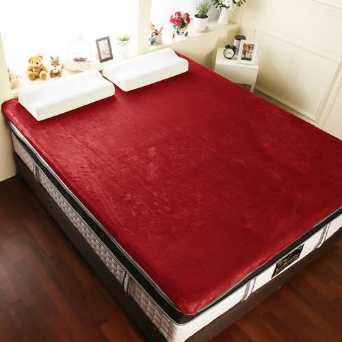【契斯特】12公分新法蘭絨舒適記憶床墊-特大7尺-寶石紅
