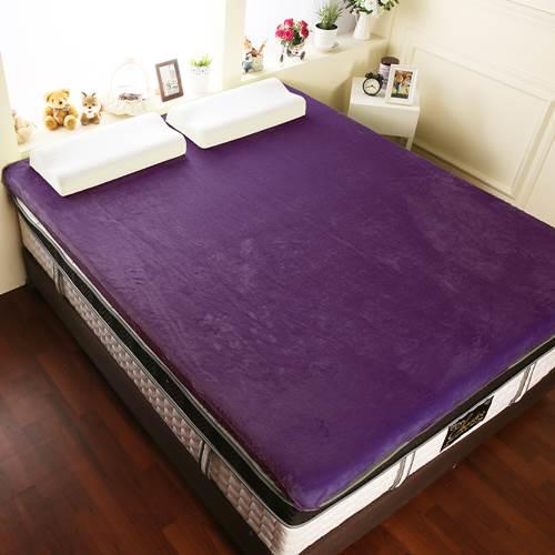 【契斯特】12公分新法蘭絨舒適記憶床墊-特大7尺-紫羅蘭