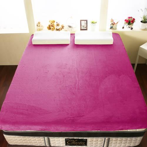 【契斯特】12公分新法蘭絨舒適記憶床墊-特大7尺-洋粉紅