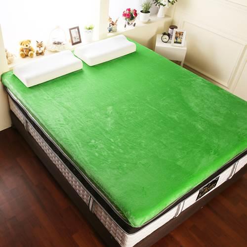 【契斯特】12公分新法蘭絨舒適記憶床墊-特大7尺-常春藤綠