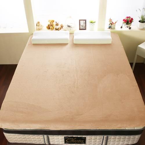 【契斯特】12公分新法蘭絨舒適記憶床墊-特大7尺-牛奶白