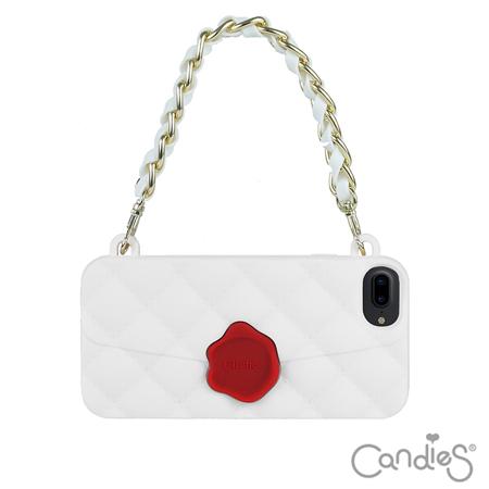 Candies-經典晚宴包(白)-iPhone 7 Plus 5.5吋(送玻璃保護貼)