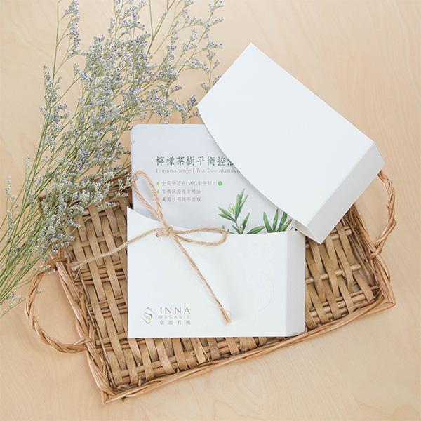 Inna Organic童顏有機面膜禮盒 檸檬茶樹5片裝
