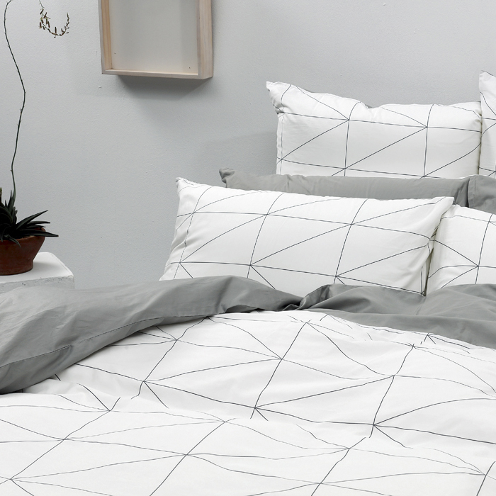 LITA麗塔【旅人】雙人特大床包兩用被套枕套四件組