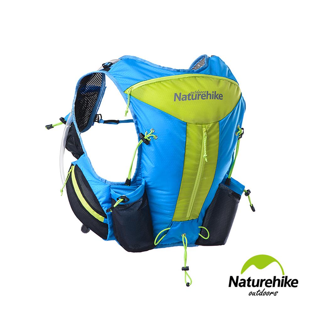 【Naturehike】12L輕量化背心式越野跑步後背包 水袋包(藍色)