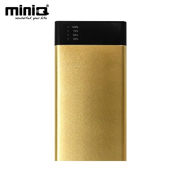 miniQ 18000超大容量雙輸出行動電源金色