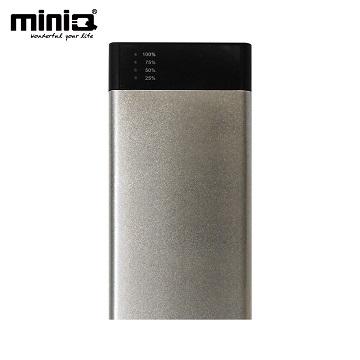 miniQ 18000超大容量雙輸出行動電源銀色