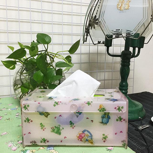 【U】Peter Rabbit 比得兔 - 田園風比得兔面紙盒(二色可選) - 淡粉