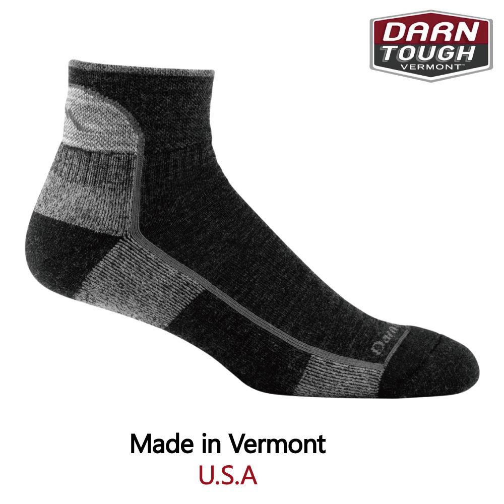 【美國DARN TOUGH】Hiker 1/4 Sock Cushion 徒步.健行系列襪-黑色-2入S黑色
