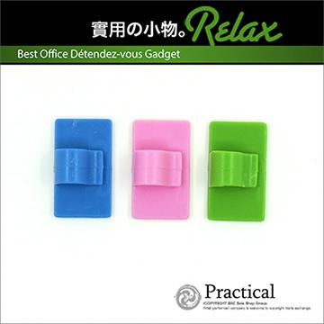 超實用居家生活必備多功能線材整理固定夾線器(16入超值組)(粉色)