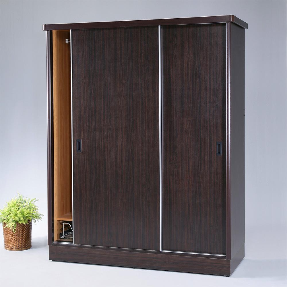 《Homelike》漢娜5x7滑門衣櫥-胡桃