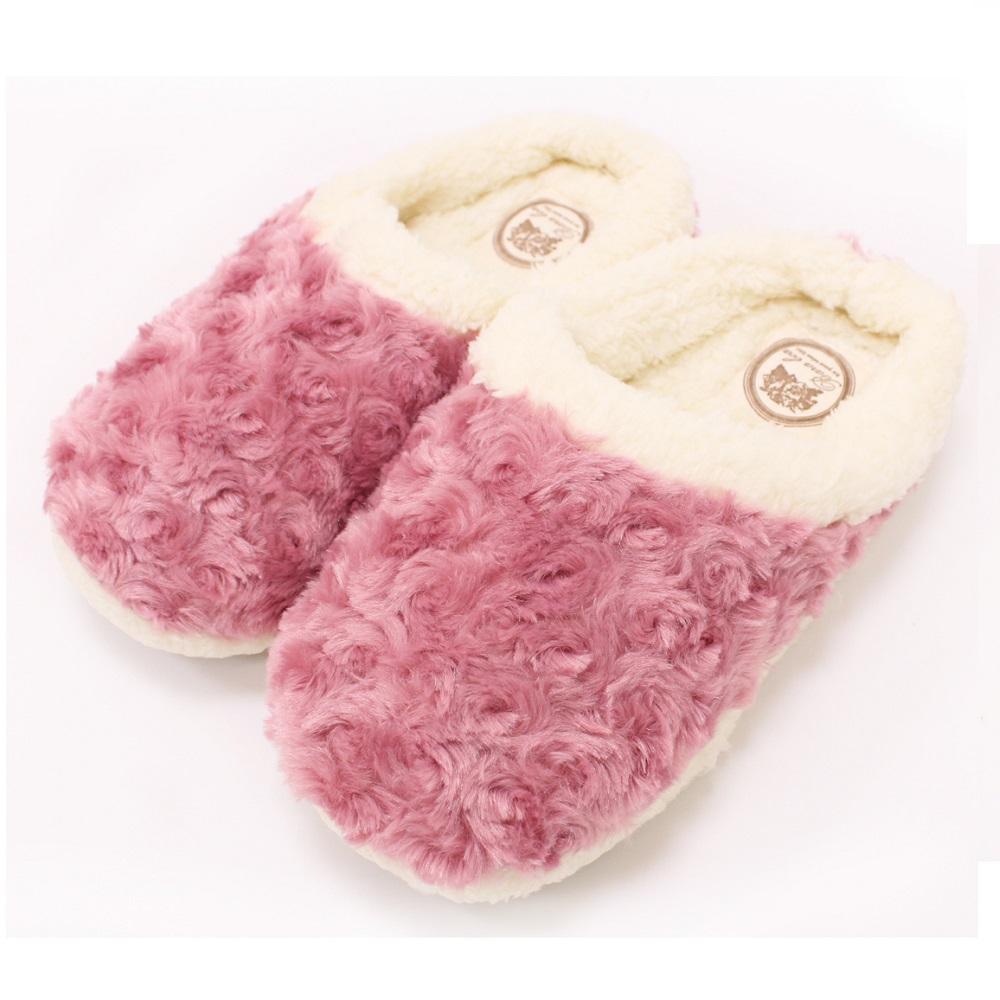 【U】MigoBear - 絨毛保暖家居鞋(四色可選) - 甜美櫻粉
