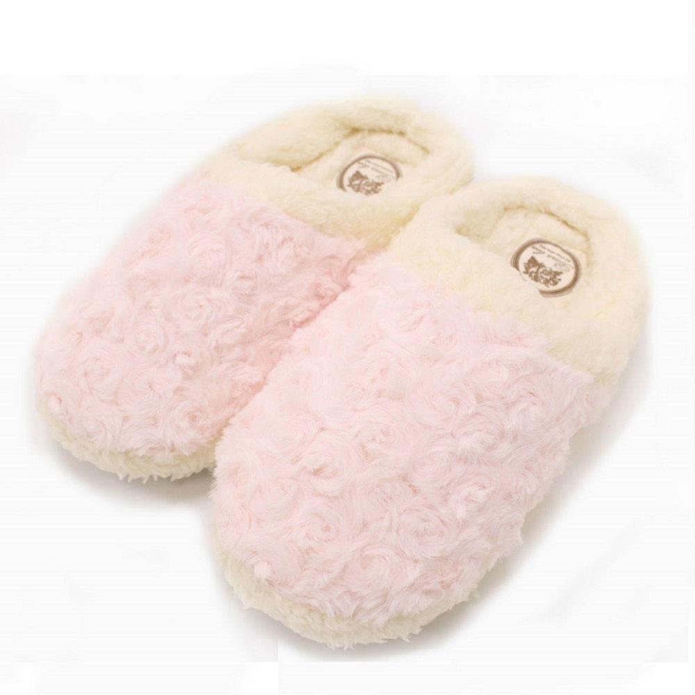 【U】MigoBear - 絨毛保暖家居鞋(四色可選) - 居家粉膚