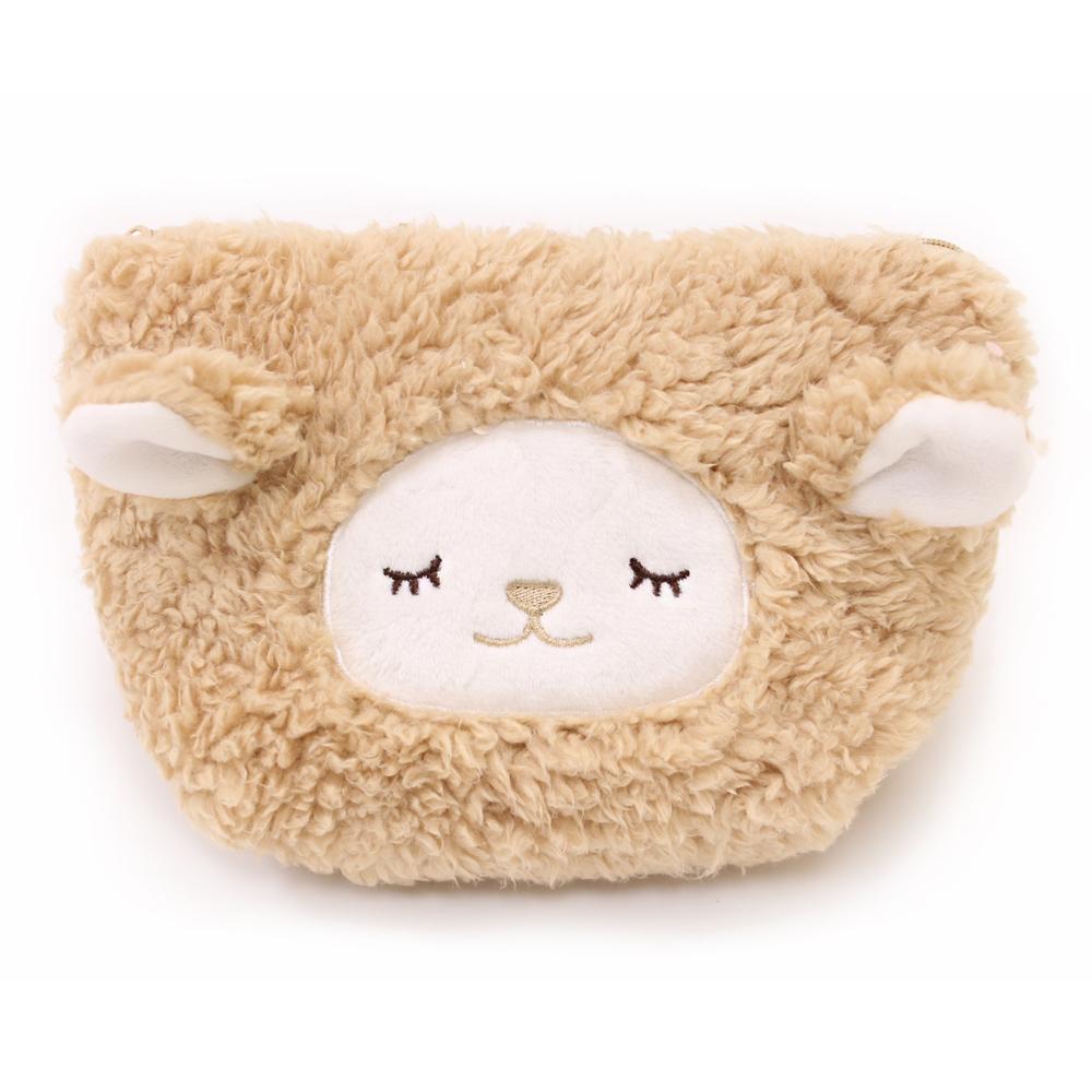 【U】Kanaii Boom - 暖羊羊隨身收納包(三色可選) - 棕色