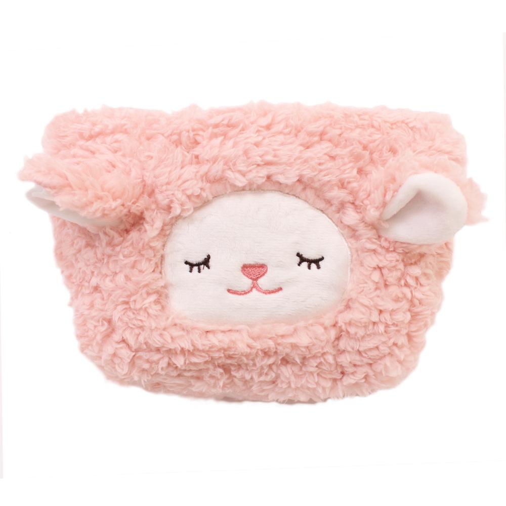 【U】Kanaii Boom - 暖羊羊隨身收納包(三色可選) - 粉色
