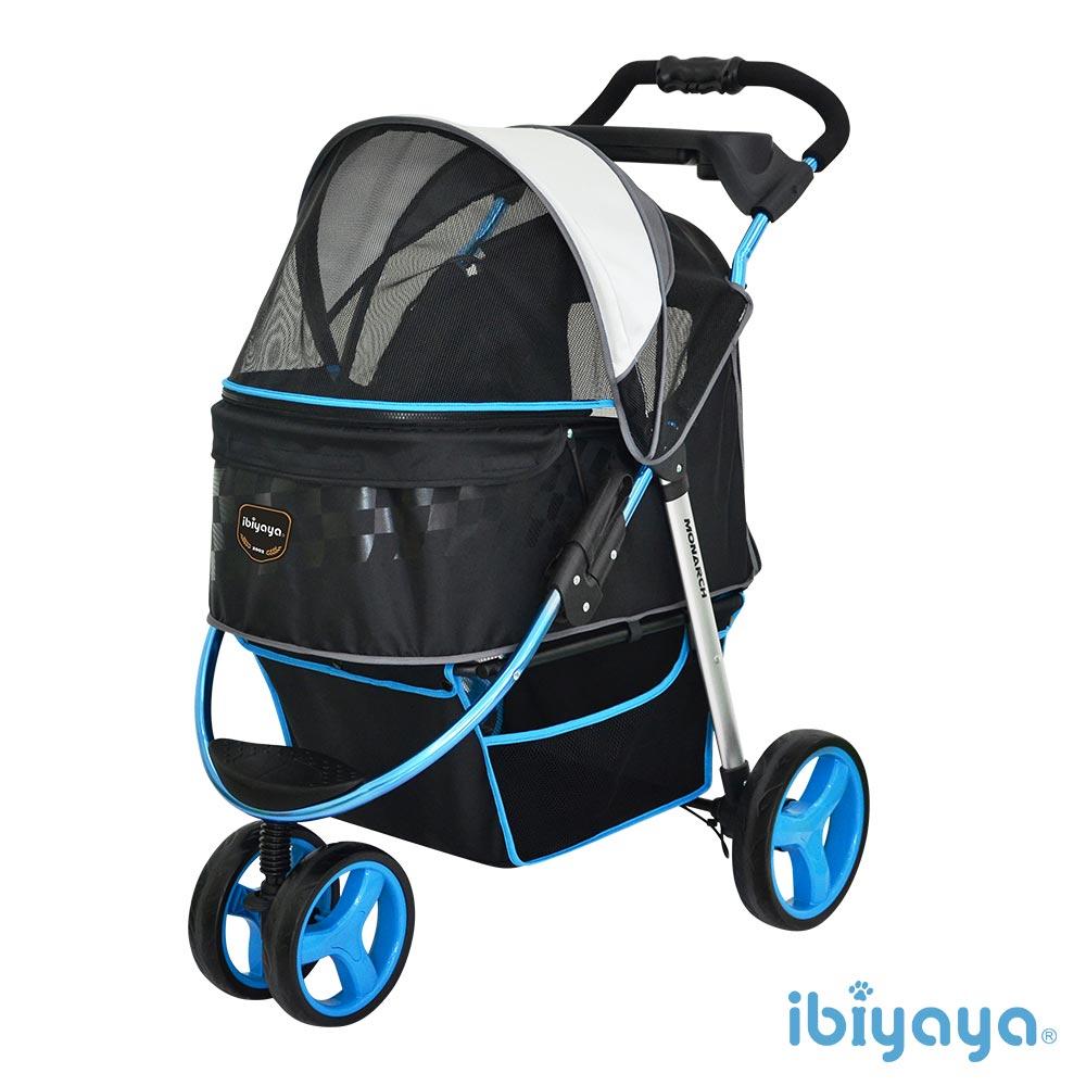 【IBIYAYA依比呀呀】FS1616 尊爵號鋁合金寵物推車-極光藍