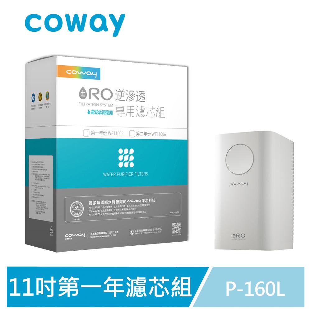 Coway RO逆滲透專用濾芯組【11吋第一年份】
