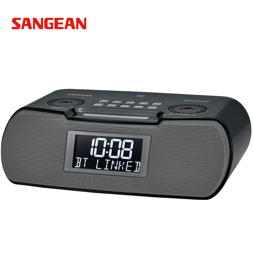 【SANGEAN】山進RCR-20 二波段時鐘收音機黑