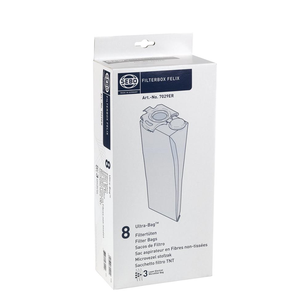 SEBO 7029ER FELIX系列專用 Ultra-Bag過濾集塵袋x8個