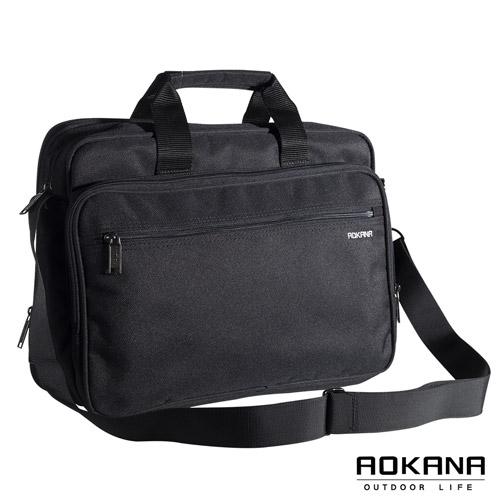 AOKANA奧卡納 MIT台灣製 自信魅力 可拆式揹帶商務公事包 (時尚黑) 02-022