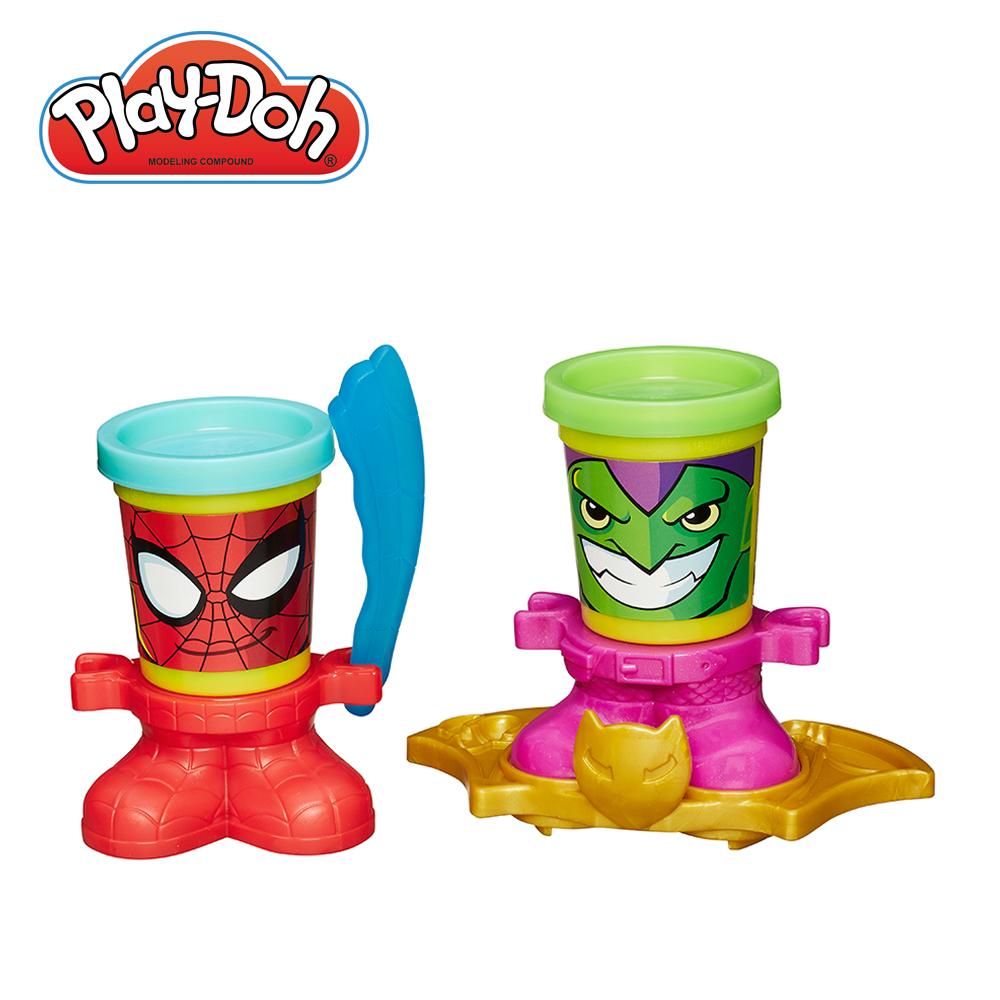 PlayDoh培樂多~漫威英雄黏土罐遊戲組~蜘蛛人與綠惡魔