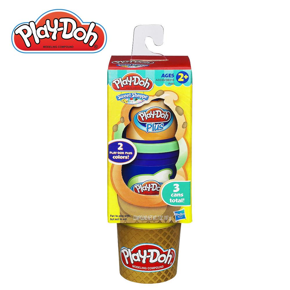 PlayDoh培樂多~黏土補充罐~蛋捲冰淇淋組