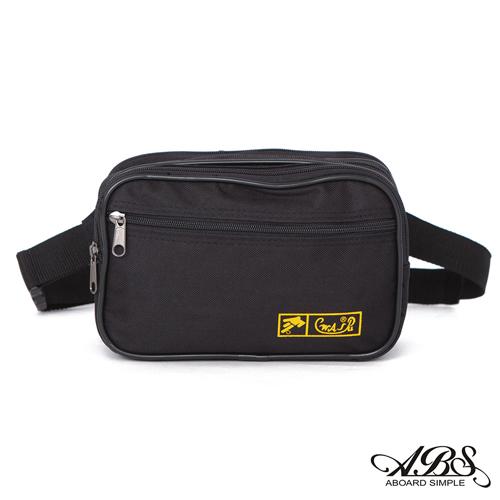 ABS愛貝斯 台灣製造 輕量防潑水兩用式腰包 側背包 (百搭黑) 709