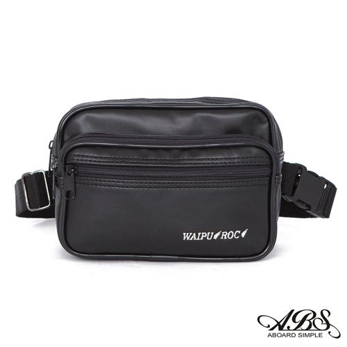 ABS愛貝斯 台灣製造 輕量防水兩用式多層腰包 側背包 (黑) 722