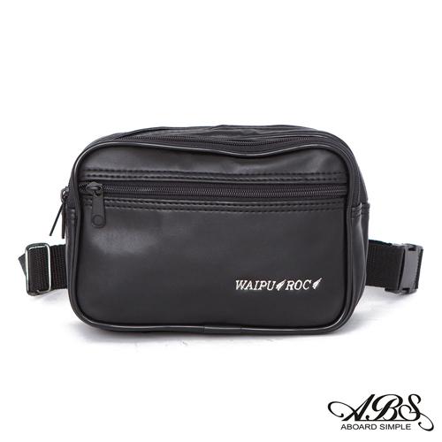 ABS愛貝斯 台灣製造 輕量防水兩用式多層腰包 側背包 (黑) 719