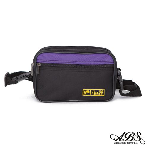 ABS愛貝斯 台灣製造 輕量防潑水兩用式腰包 側背包 704黑紫