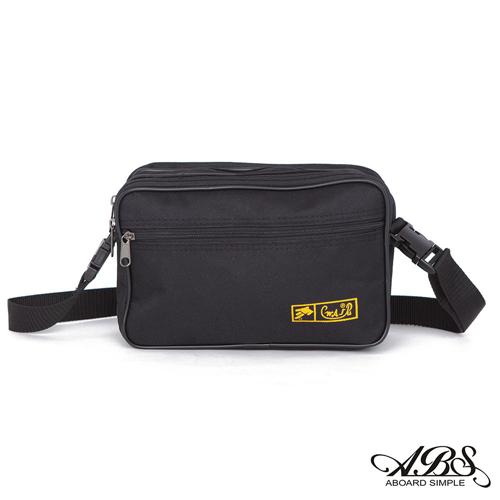 ABS愛貝斯 台灣製造 輕量防潑水兩用式腰包 側背包 (黑) 714