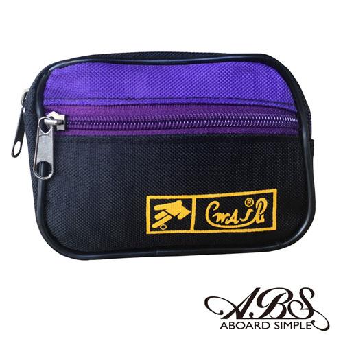 ABS愛貝斯 MIT輕量防潑水多功能腰包 防搶包 711黑紫