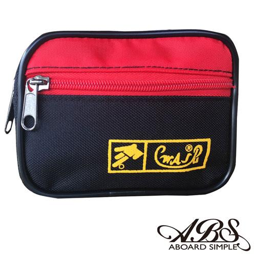 ABS愛貝斯 MIT輕量防潑水多功能腰包 防搶包 711黑紅