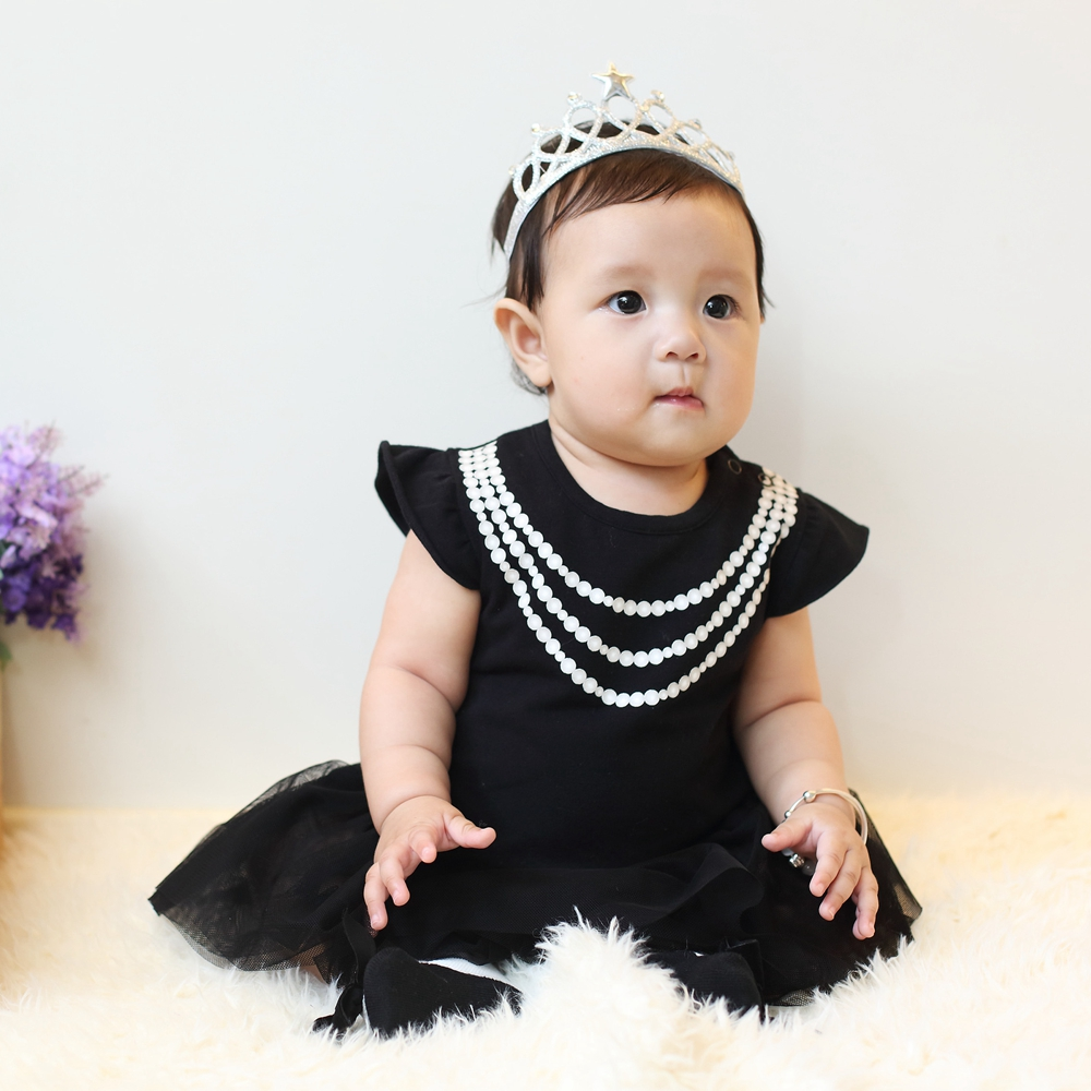 [日安朵朵]女嬰雪紡蓬蓬裙連身衣禮盒–奧黛莉赫本(MIT衣+寶寶襪)6M短袖