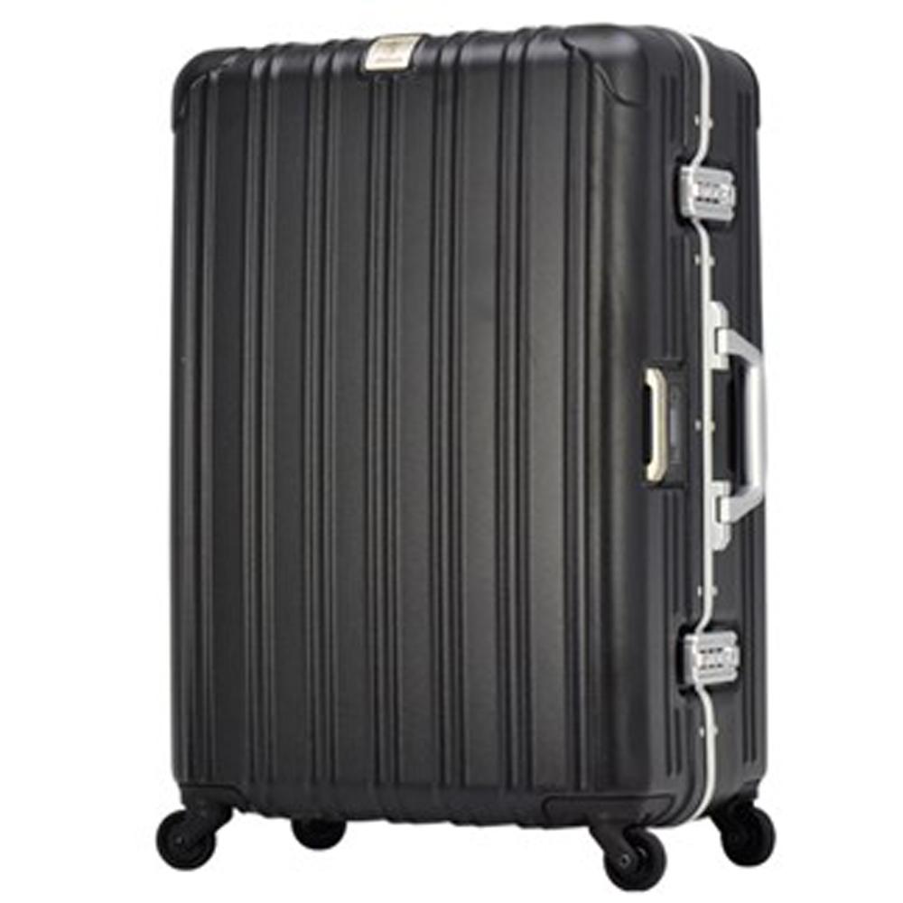 日本 LEGEND WALKER 6201L-62-25吋 電子秤行李箱 消光黑25吋消光黑