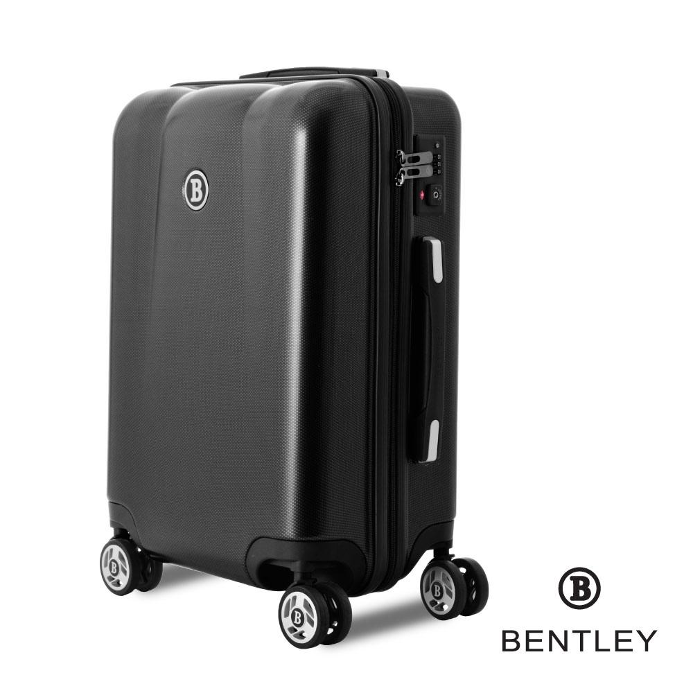 【BENTLEY】28吋 PC+ABS 碳纖維拉鍊款輕量行李箱 -黑
