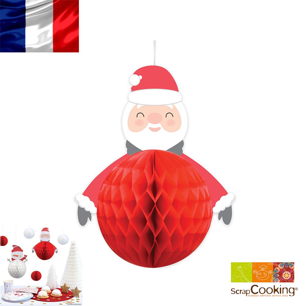 法國~Scrap Cooking樂桃烘廚~聖誕老公公蜂窩裝飾彩球