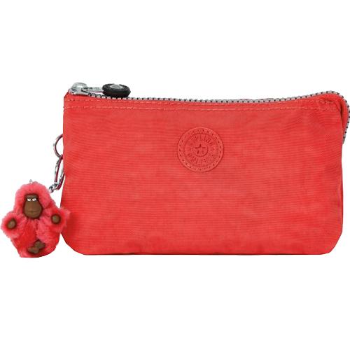 KIPLING 三層手拿包-櫻桃紅 (現貨+預購)櫻桃紅