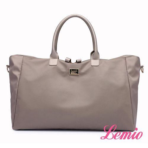 【Lemio】韓流時尚防潑水牛津布肩背斜背兩用包(品味灰)