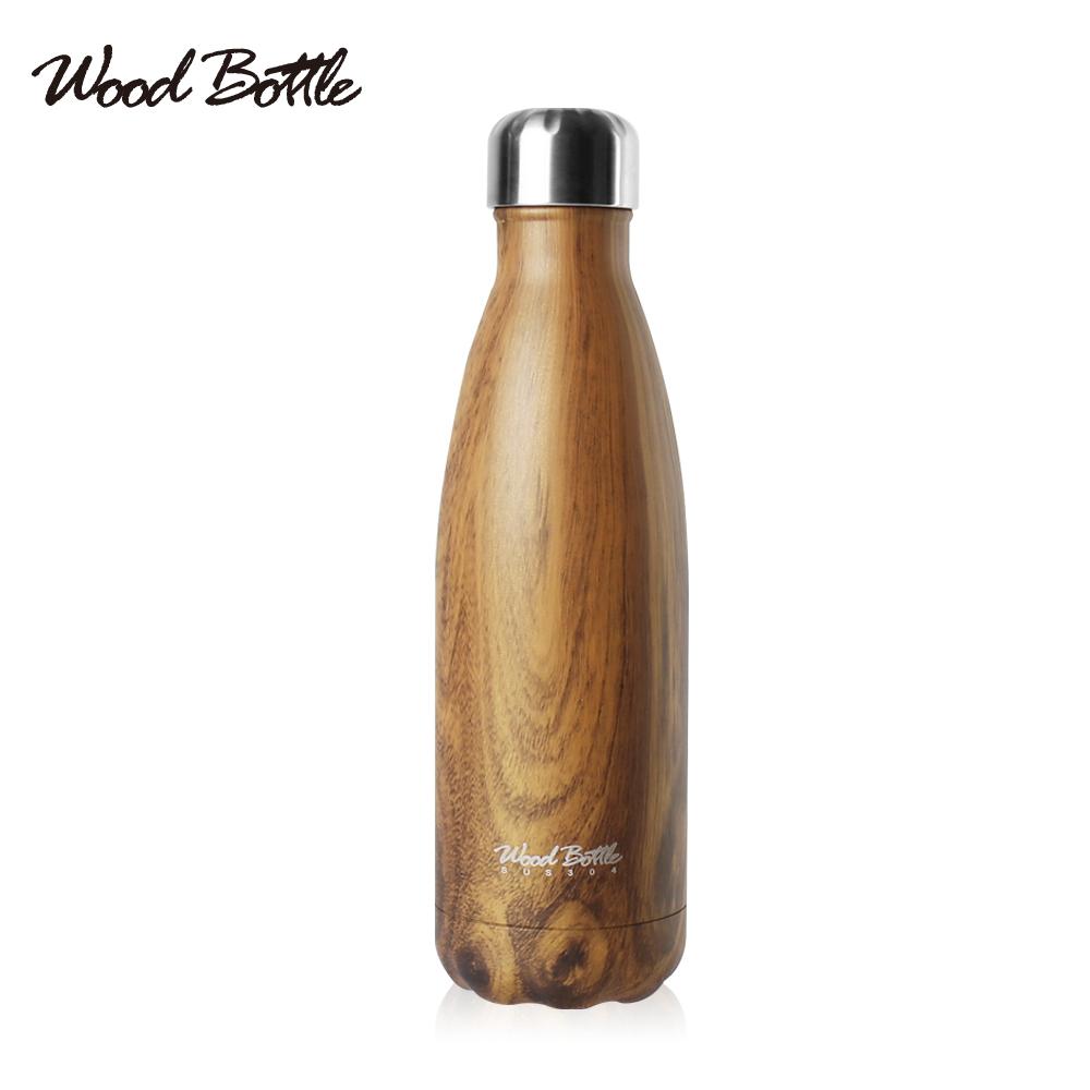 ~Wood Bottle~304不鏽鋼大地系列木紋保冰 溫隨身杯500ML
