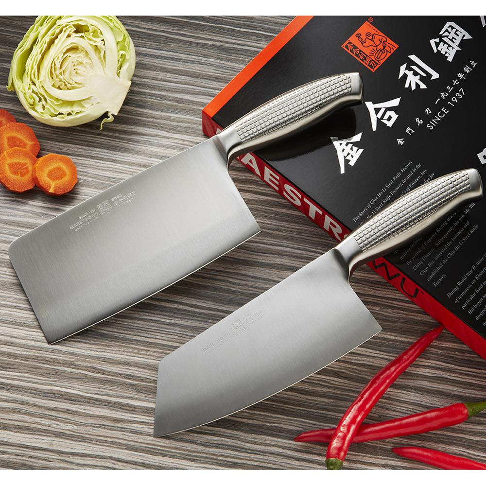【金門㊣金合利-新鋼柄特選系列】新鋼柄雙鋼刀禮盒組合(切菜刀+剁骨刀)