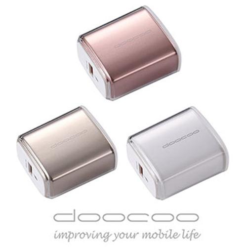 doocoo iQC 2.0 USB 急速充   支援 充電技術  ~優雅白
