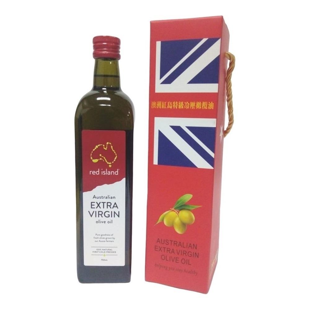 澳洲red island 特級冷壓初榨橄欖油 750ml 單入禮盒組