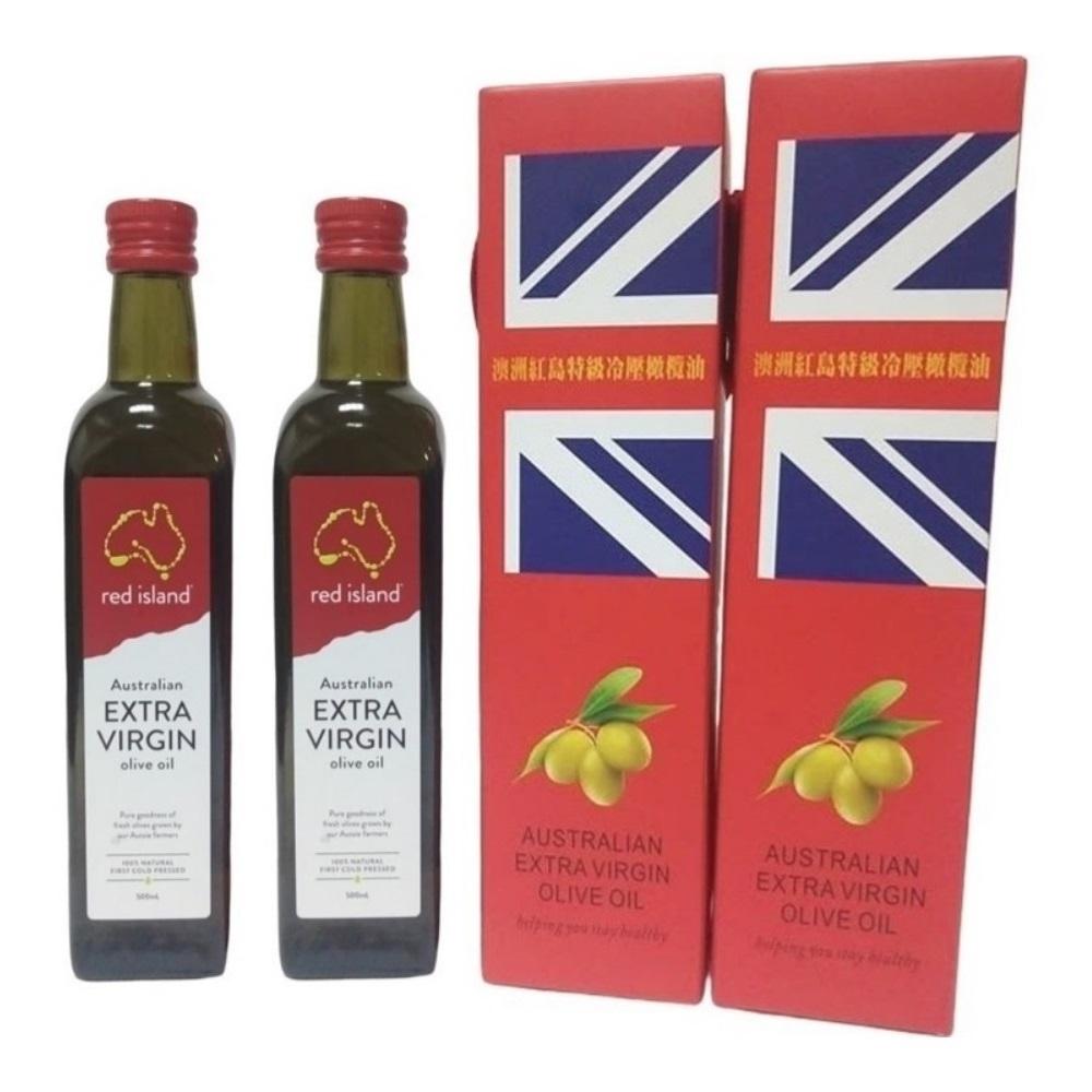 澳洲red island 特級冷壓初榨橄欖油500ml 雙入禮盒組