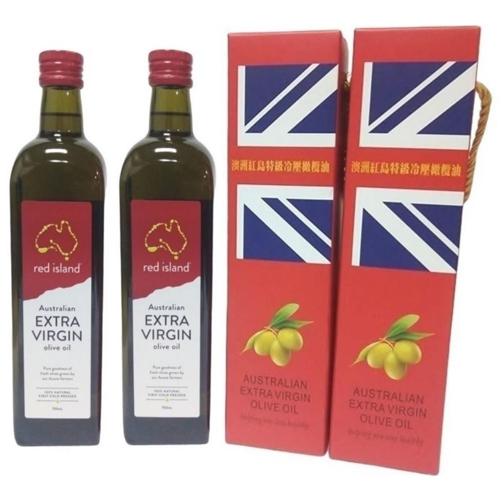 澳洲red island 特級冷壓初榨橄欖油 750ml 雙入禮盒組