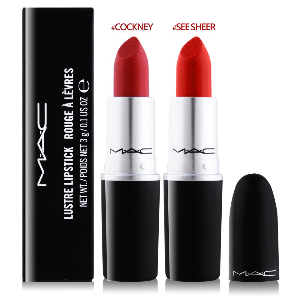 M.A.C 水漾潤澤唇膏(3g)多色可選贈專櫃精華液試用包(隨機出貨)X1SEE SHEER