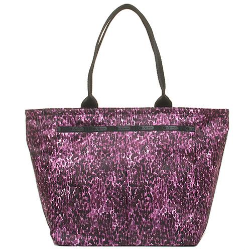 LeSportsac 經典側肩托特包-紫色豹紋 (現貨+預購)紫色豹紋