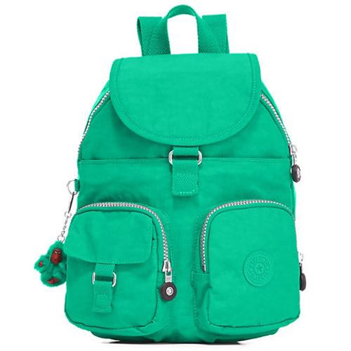 KIPLING口袋尼龍輕量後背包-綠色 (現貨+預購)綠色