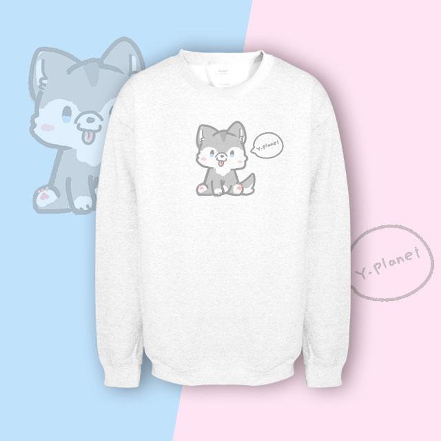 【kuroi-T】小狗 美國GILDAN棉柔質感 大學TS白色